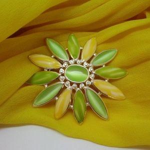 Vintage Liz Claiborne Flower Brooch